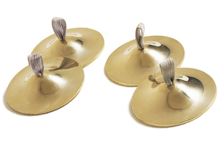 Zills, Beginners Finger Cymbals, Brass with elastic